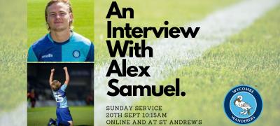 Interview with Alex Samuel banner new date